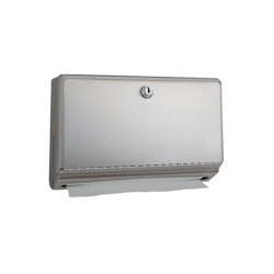 Hand paper towel dispenser mini in brushed stainless steel