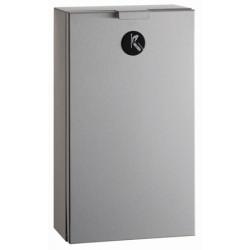 Compact sanitary stainless steel bin