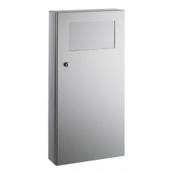 Wall mounted stainless steel with frontal flap PUSH 12 L