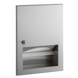 Paper towel dispenser brushed stainless steel with lock