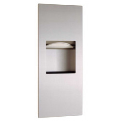 Unit paper towel dispenser and waste bin  stainless steel