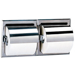 Recessed WC paper dispenser double roll