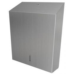 Paper towel dispenser mural stainless steel sheet by sheet O-MEGA grand capacity