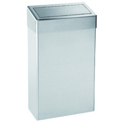 Waste bin with flap cover PUSH stainless steel