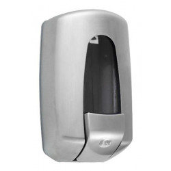 Wall mounted liquid soap dispenser stainless steel brushed FUTURA II