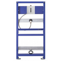 Urinal support frame with electronic faucet I-Caro in stainless steel
