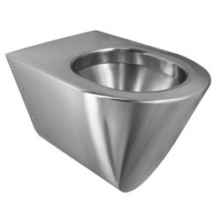 Suspended WC stainless steel design ULTIMA without toilet lid