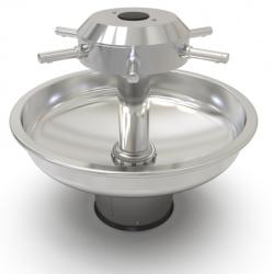 Wash basin in stainless steel circular on foot for nursery school