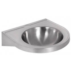 Wall hung wash basin stainless steel with edge anti-drip
