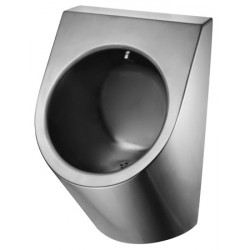 urinal without water in stainless steel