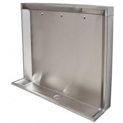 Stall urinals stainless steel collective recessed