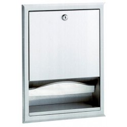 Paper towel dispenser recessed stainless steel brushed