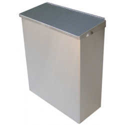 Sanitary bin in stainless steel feminine hygiene