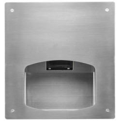 Recessed hand dryer in stainless steel automatic SMH-91 vandal proof
