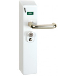 Coin or token operated lock for access control of WC, showers...