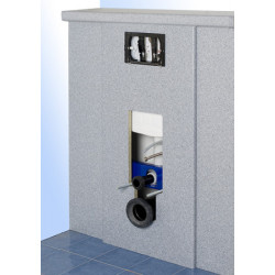 Habillage stratifié bâti-support WC