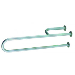 Grab bar in stainless steel with reinforced mural