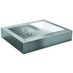 Wash basin rectangular design in stainless steel