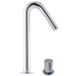 Electronic mixing tap design ONE with mixing button on the side