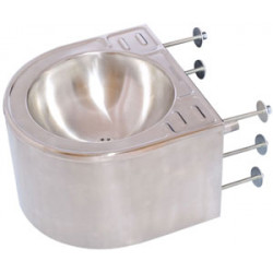Wash basin stainless steel wall mounted vandal proof