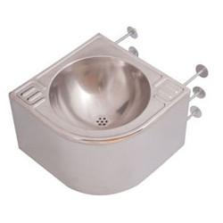 Wash basin vandal proof corners in stainless steel