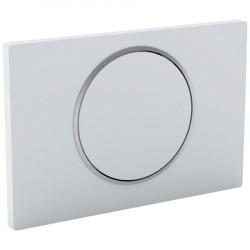 Plaque déclenchement WC blanche
