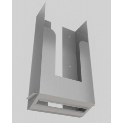 Stainless steel paper towel dispenser to integrate behind mirror