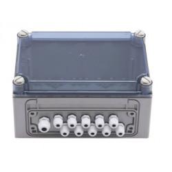 Transformer junction box for soap dispensers