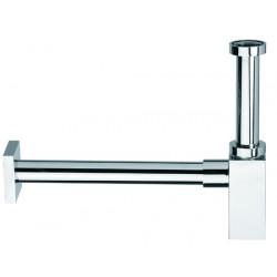SQUARE DESIGN sink waste trap chromed finish