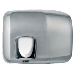 Hand dryer in stainless steel with orientable   nozzle