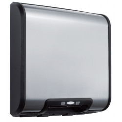 Electric hand dryer compact stainless steel brushed finish silence