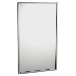 Mirror with frame welded stainless steel