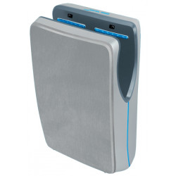 Vertical hand dryer pulsed air cover in brushed stainless steel AIR JET II
