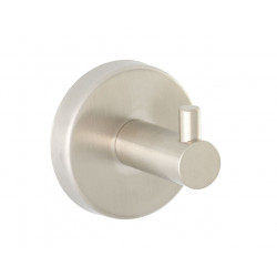 Simple hook coat peg brushed finish in stainless steel