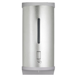 Automatic hand disinfectant dispenser in spray stainless steel mural