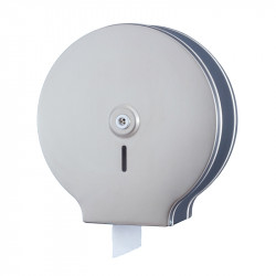 WC paper dispenser brushed stainless steel maxi for an intensive use