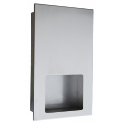 WC roll dispenser recessed stainless steel vandal-proof recharge by technical local