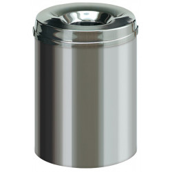Anti-fire waste receptacle stainless steel 15L