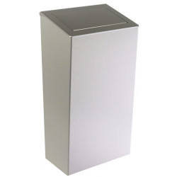 Stainless steel bin design 50 L lid and hatch PUSH on the floor or mural