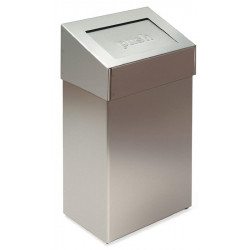 Waste bin in stainless steel cover PUSH