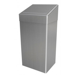 Sanitary waste bin in stainless steel 50L lid PUSH