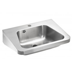 Wash basin mural trapezoidal stainless steel industrial