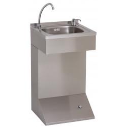 Floor standing hygiene washbasin in stainless steel