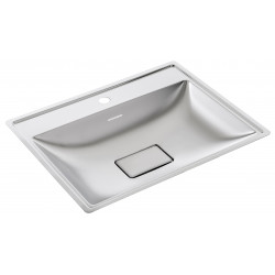 Recessed vanity bowl design stainless steel rectangular with faucet space