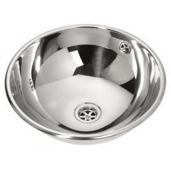 Recessed vanity bowl stainless steel polished
