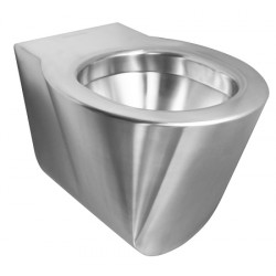 Toilet bowl vandal-proof and design stainless steel suspended OPTIMA