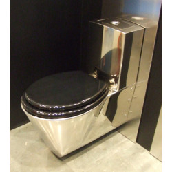 WC stainless steel wall hung with integrated tank all in one