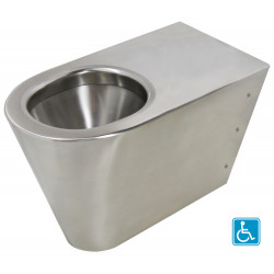 WC floor standing stainless steel P.R.M. ULTIMA horizontal or vertical outlet