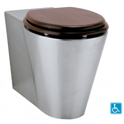 WC elevated PRM stainless steel floor standing OPTIMA