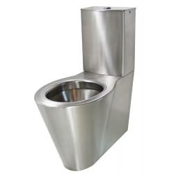 WC à poser monobloc inox brossé OPTIMA